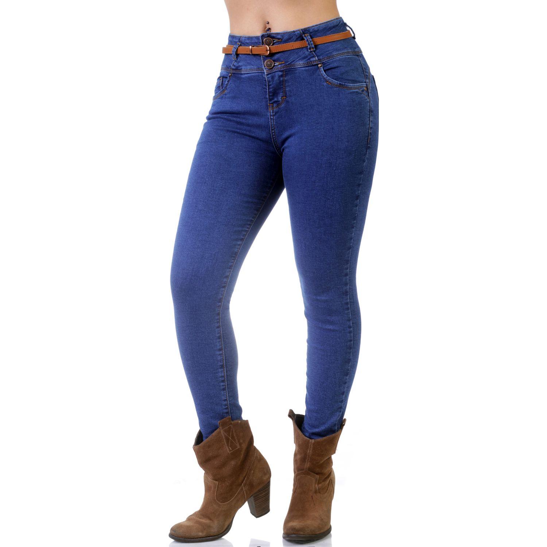 FORDAN JEANS Pantalon Dama Con 3 Botones Brenda