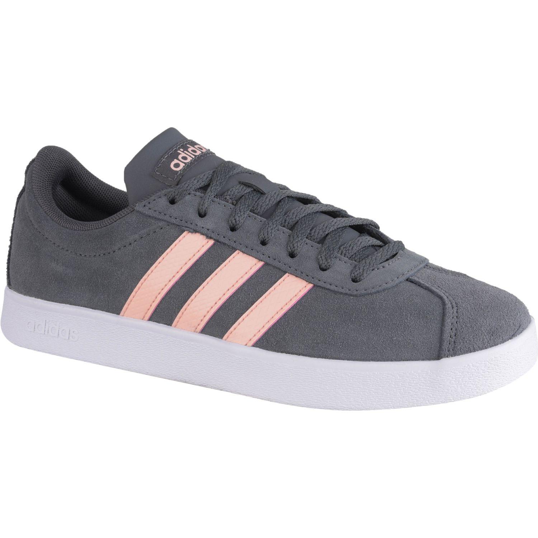 Adidas vl court 2.0 Negro / rosado Mujeres
