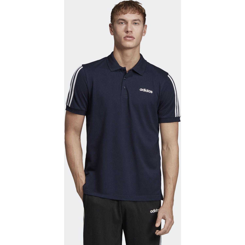 adidas M Cot Polo 3s Navy Camisetas y polos deportivos