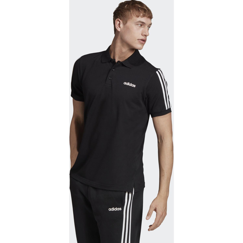 Adidas m cot polo 3s Negro Camisetas y Polos Deportivos