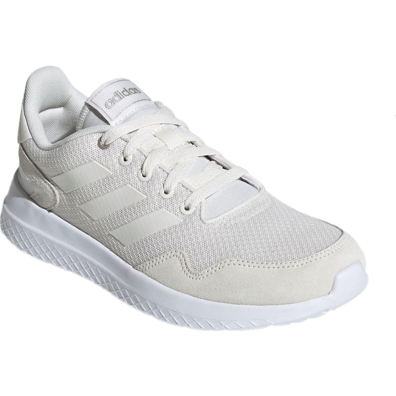 Adidas archivo Blanco Running en pista
