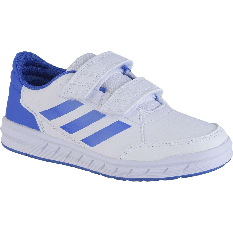 Adidas AltaSport CF K Blanco / azul Muchachos