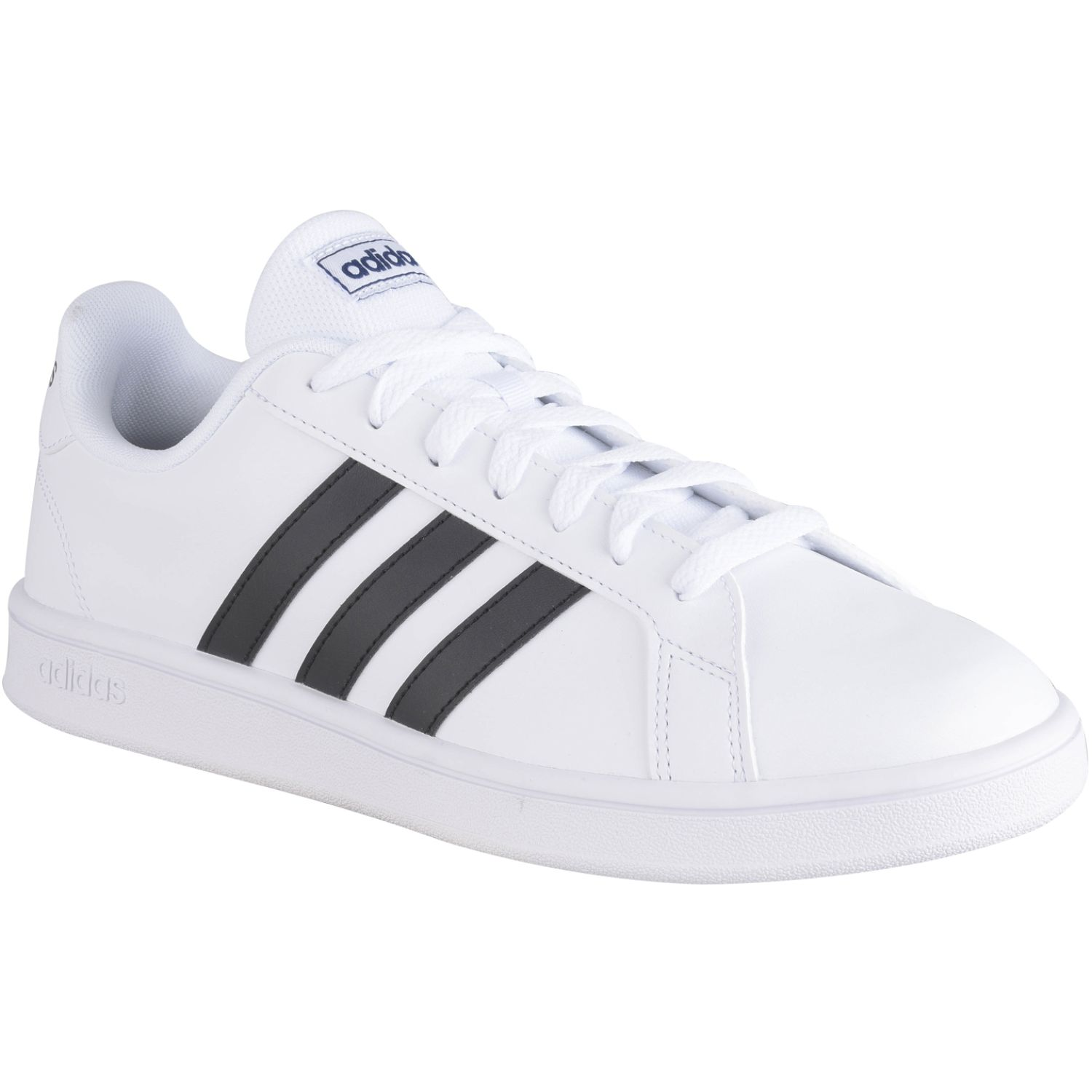 Adidas Grand Court Base Blanco / negro Tennisy deportes con raqueta