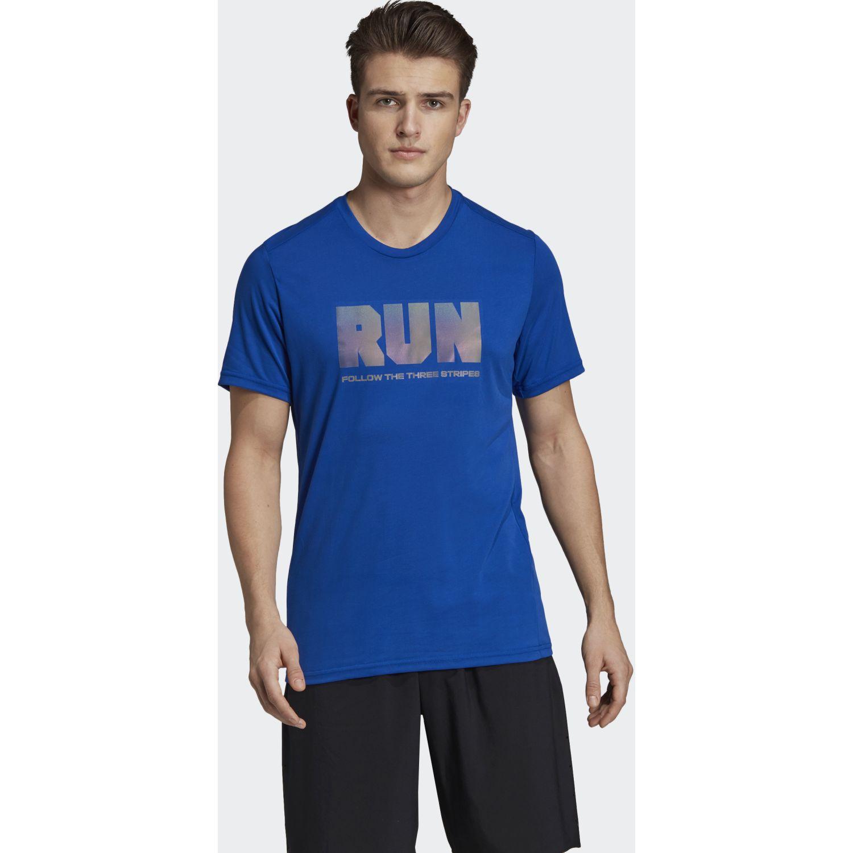 Adidas confident gfx t Azul Camisetas y Polos Deportivos