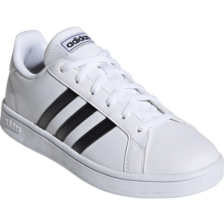 Adidas grand court base Blanco / negro Walking