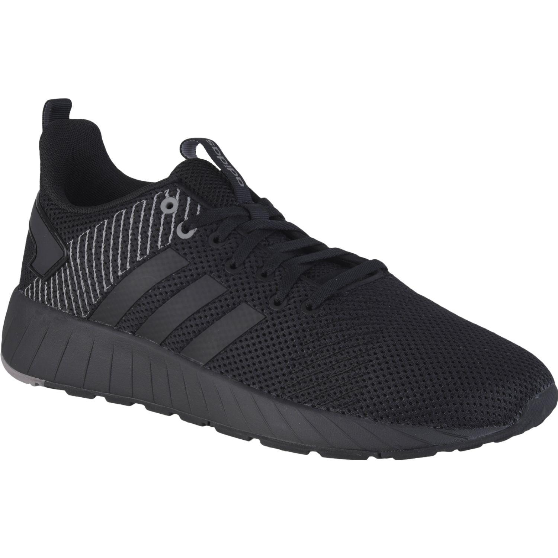 Adidas questar byd Negro Running en pista