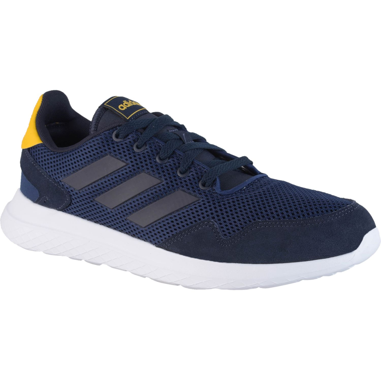 Adidas archivo Navy Running en pista