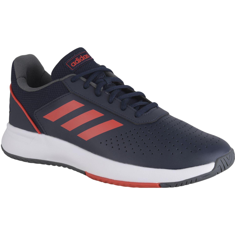 Adidas courtsmash Azul / rojo Tennis & Deportes con Raqueta