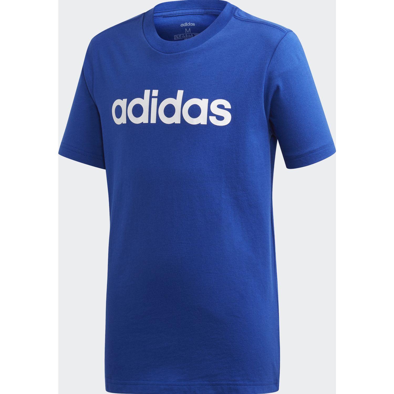 Adidas yb e lin tee Azul / blanco Camisetas y Polos Deportivos