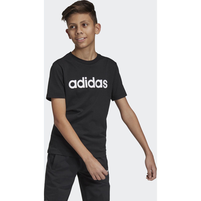 Adidas Yb E Lin Tee Negro / blanco Camisetas y Polos Deportivos