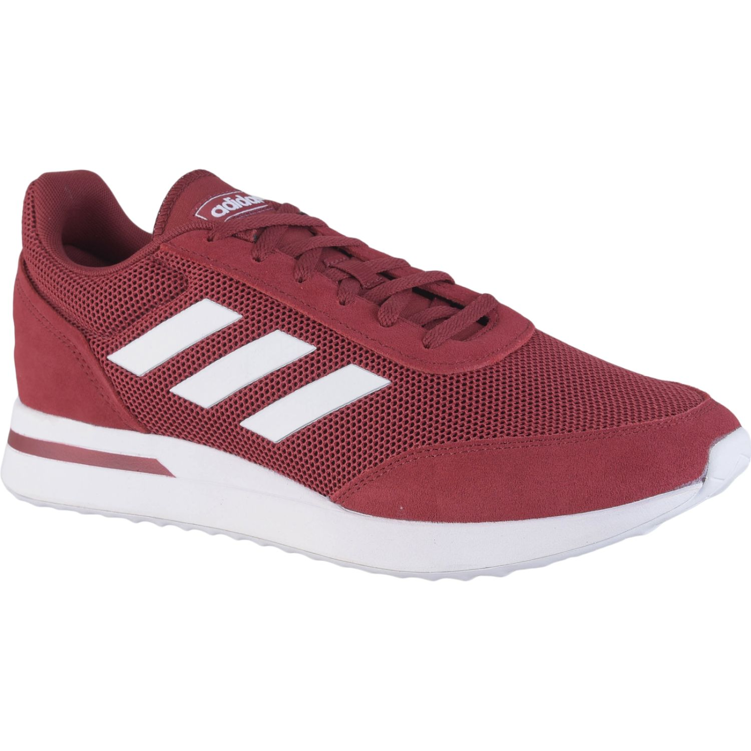 Adidas RUN70S Burgundy Running en pista