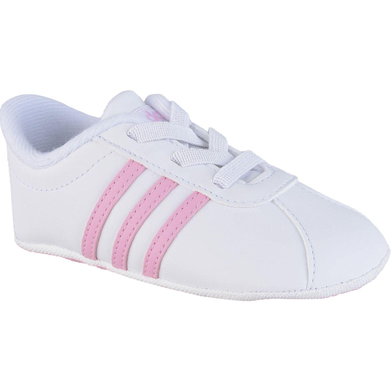 Adidas vl court 2.0 crib Blanco / rosado Walking