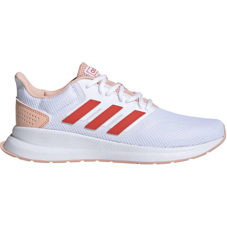 Adidas runfalcon Blanco / naranja Running en pista