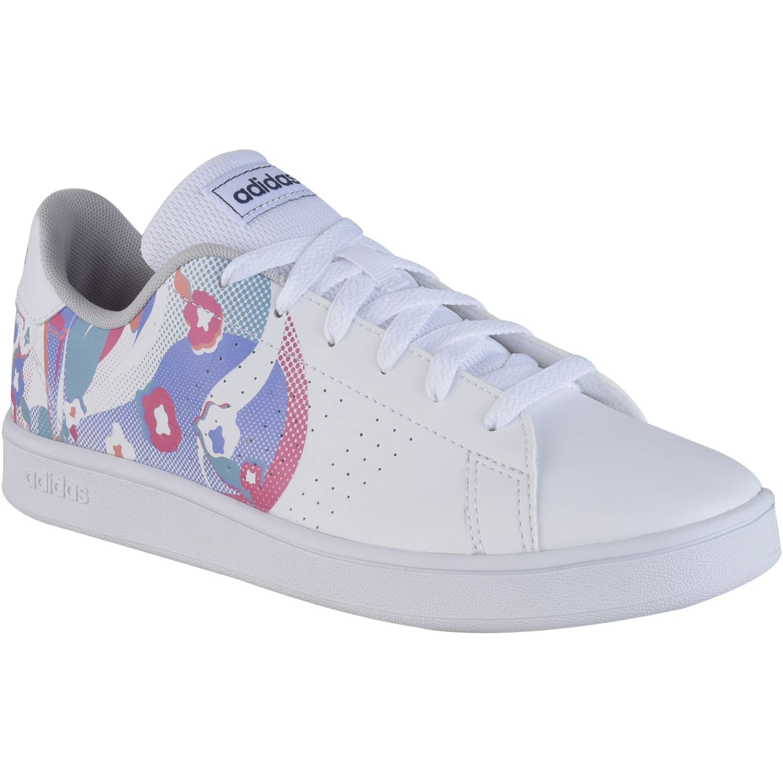 Adidas ADVANTAGE K Blanco / celeste Chicas