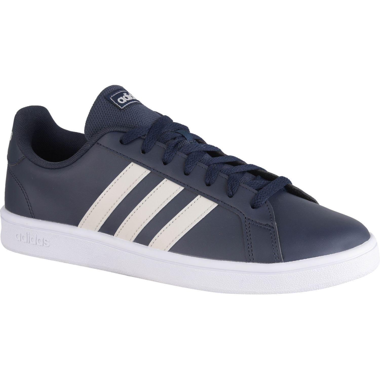 Adidas grand court base Negro / blanco Walking