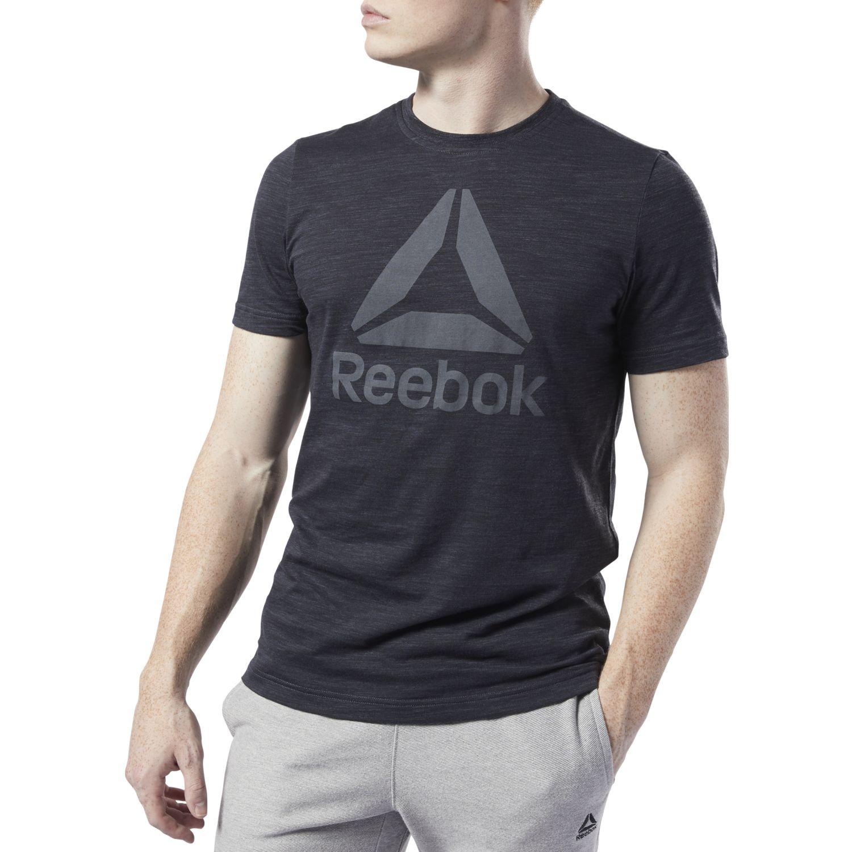 Reebok te marble bl tee Negro Camisetas y Polos Deportivos