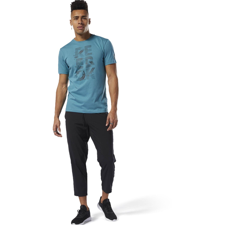 Reebok wor woven pant Negro Pantalones Deportivos