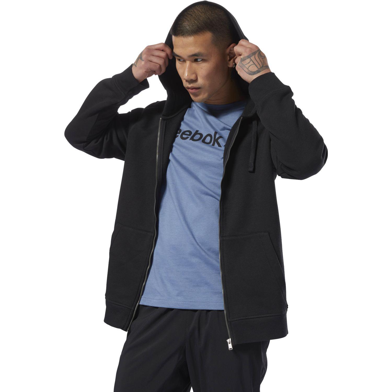 Reebok te fleece fz Negro Hoodies y Sweaters Fashion
