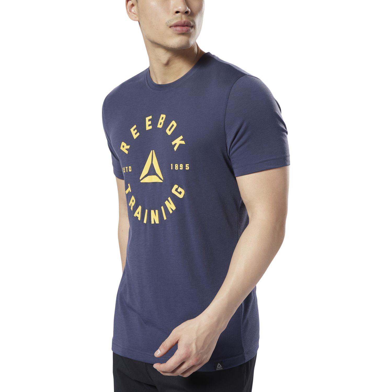 Reebok gs training speedwick tee Navy Camisetas y Polos Deportivos