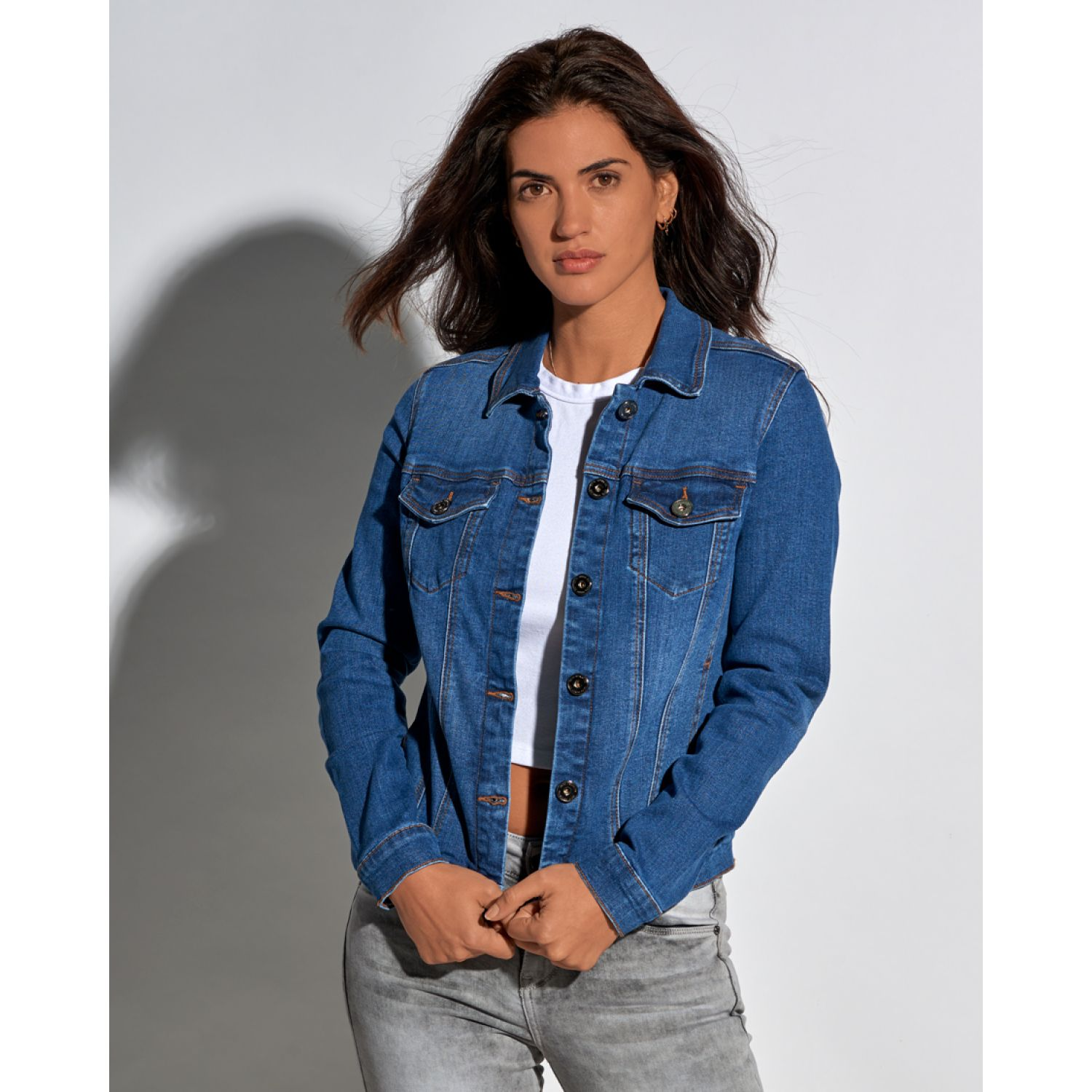 Octo Denim Co josefina Celeste Denim Sacos