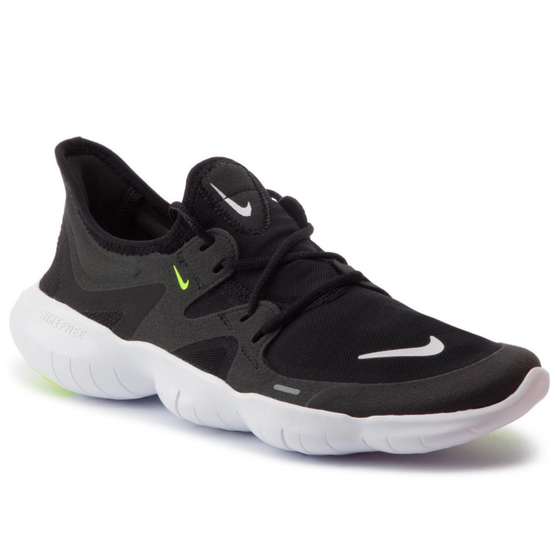 Nike NIKE FREE RN 5.0 Negro / blanco Trail Running ...