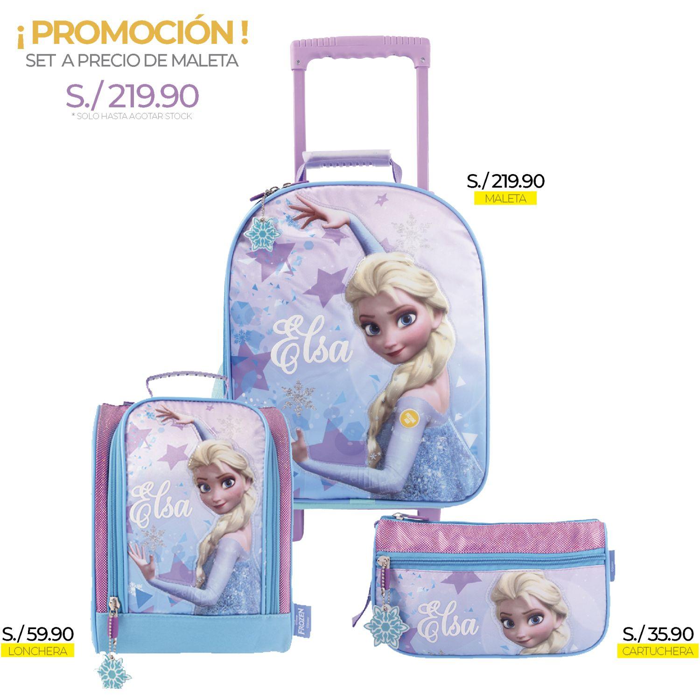 Frozen artesco - set frozen elsa + luces Celeste mochilas