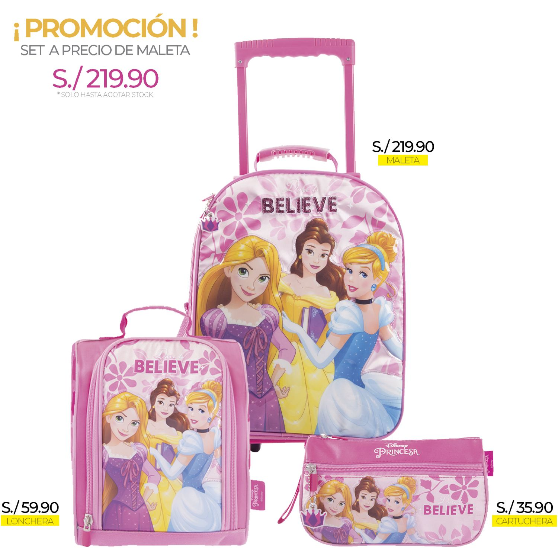 Princesas artesco - set princesas lentejuelas Rosado Maletas para Niños