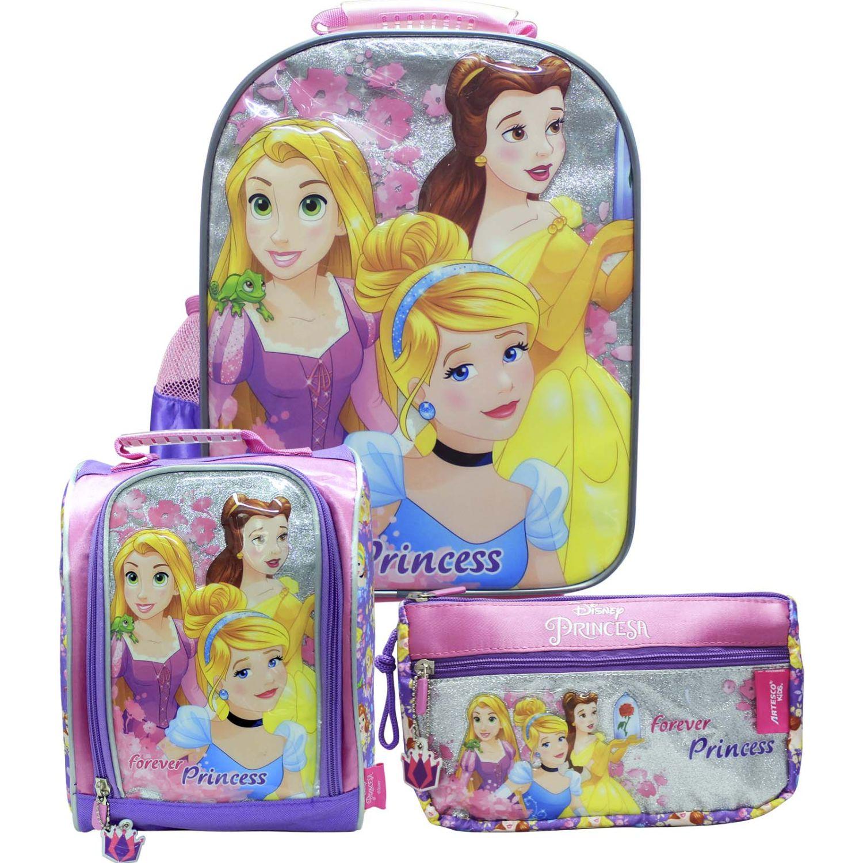 Mochilas de Niña Princesas Rosado artesco - set nido princesas + luces