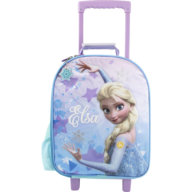 Frozen Artesco - Maleta Frozen Elsa + Luces Celeste Maletas para niñas y niños