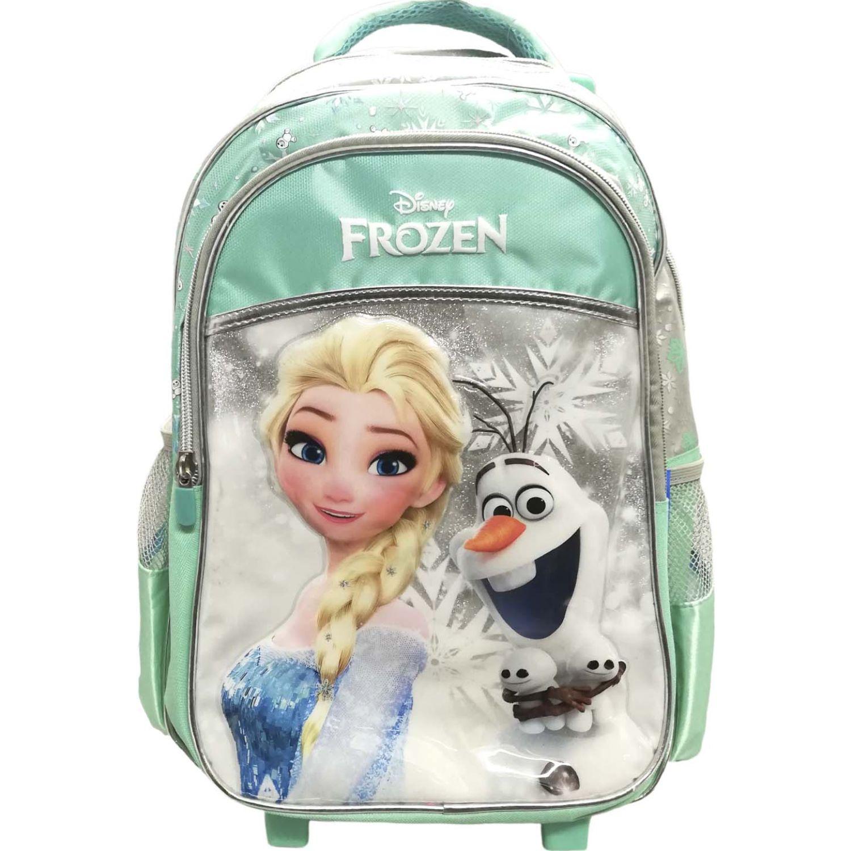 Frozen ARTESCO - mochila ruedas elsa y olaf Verde Maletas para Niños