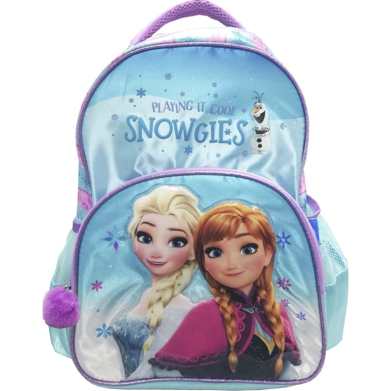 Mochilas de Niña Frozen Celeste artesco - mochila frozen pompom