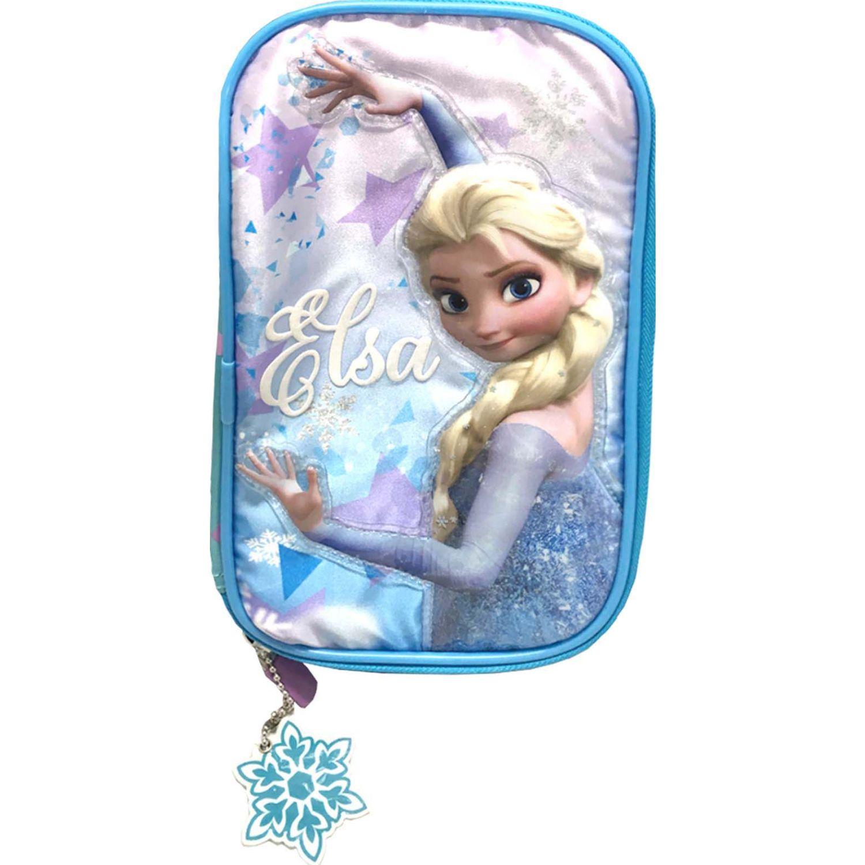 Frozen artesco - cartuchera libro frozen elsa Celeste portalápices