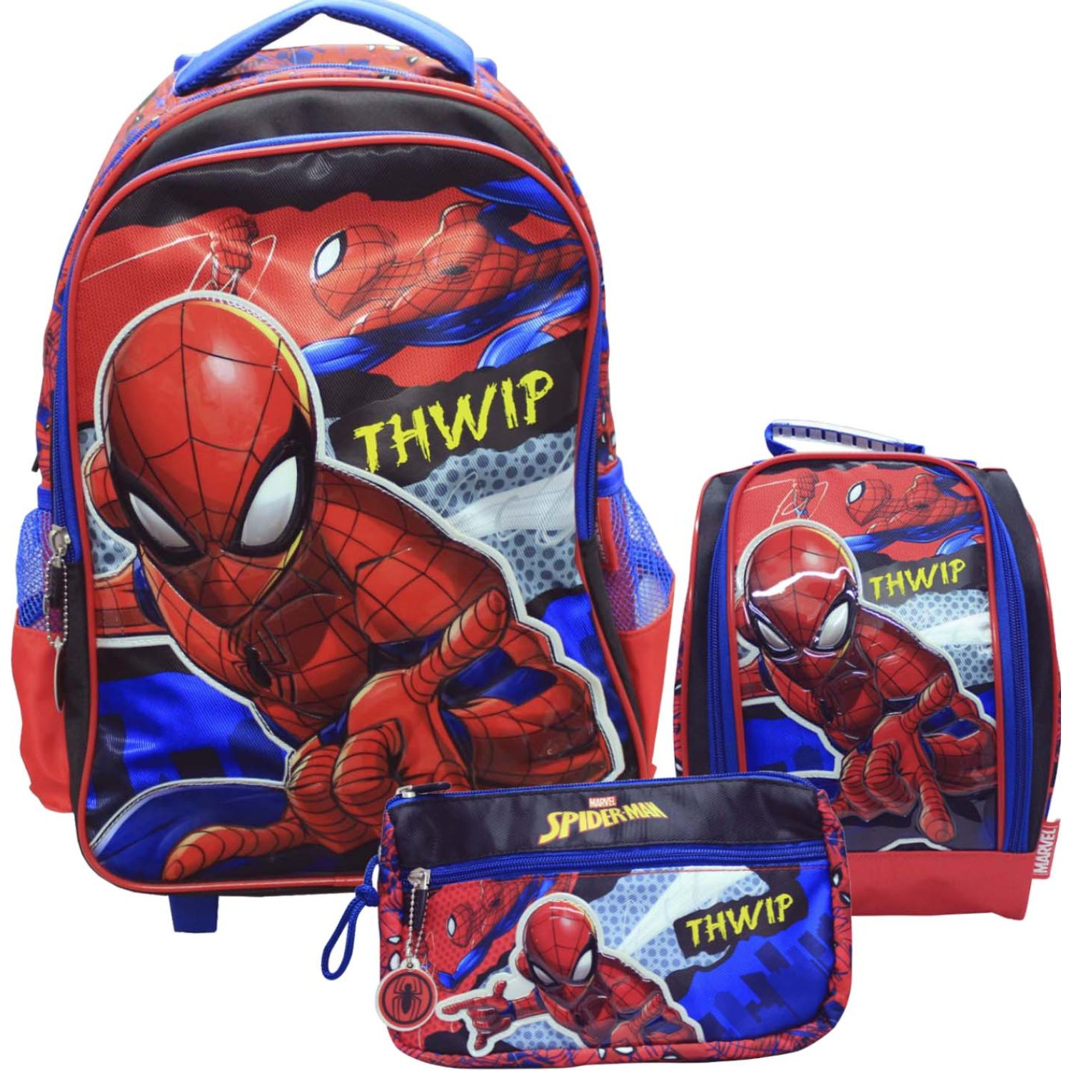 Spiderman artesco - set spiderman thwip Rojo mochilas