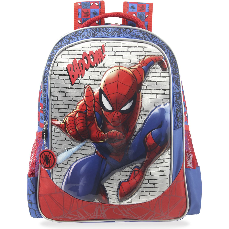 Spiderman artesco - mochila metalica + luces Rojo / azul mochilas