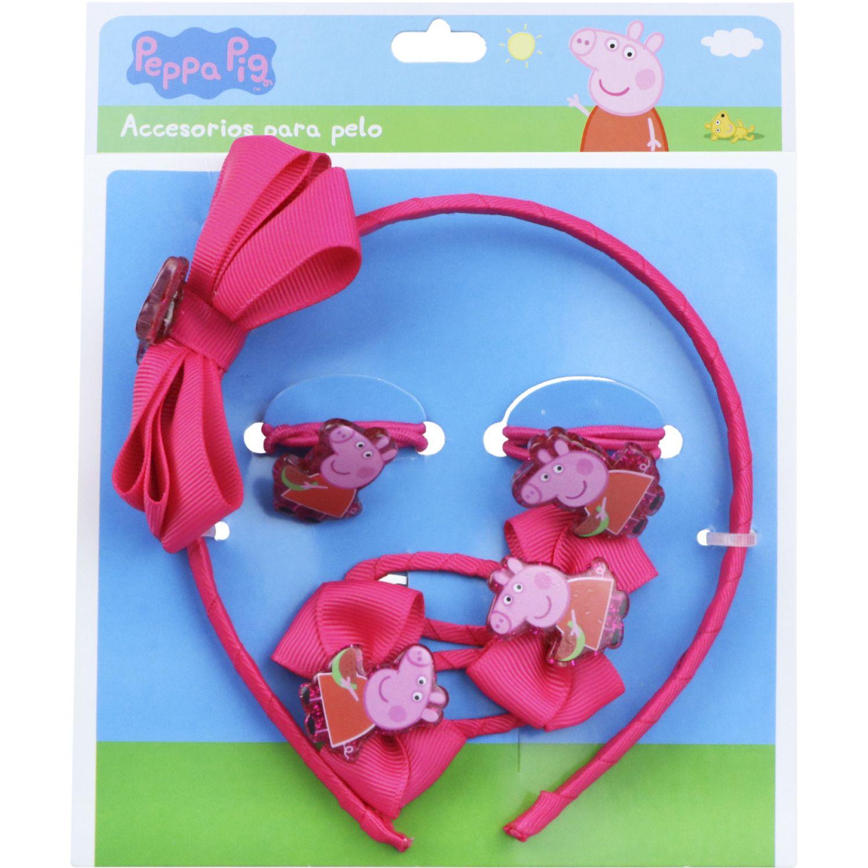 Peppa Pig set accesorios cabello peppa pig Varios cepillos para el cabello