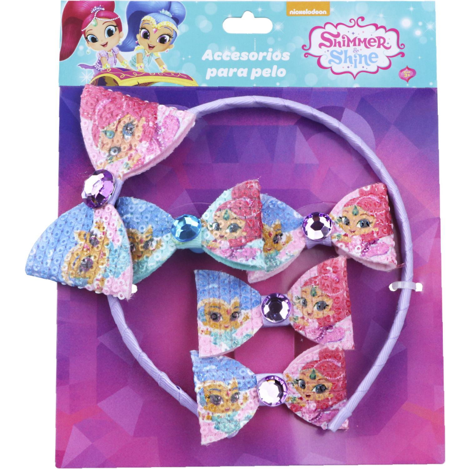 Shimmer And Shine Set Accs. Cabello Shimmer And Shine Varios Cepillos para Cabello