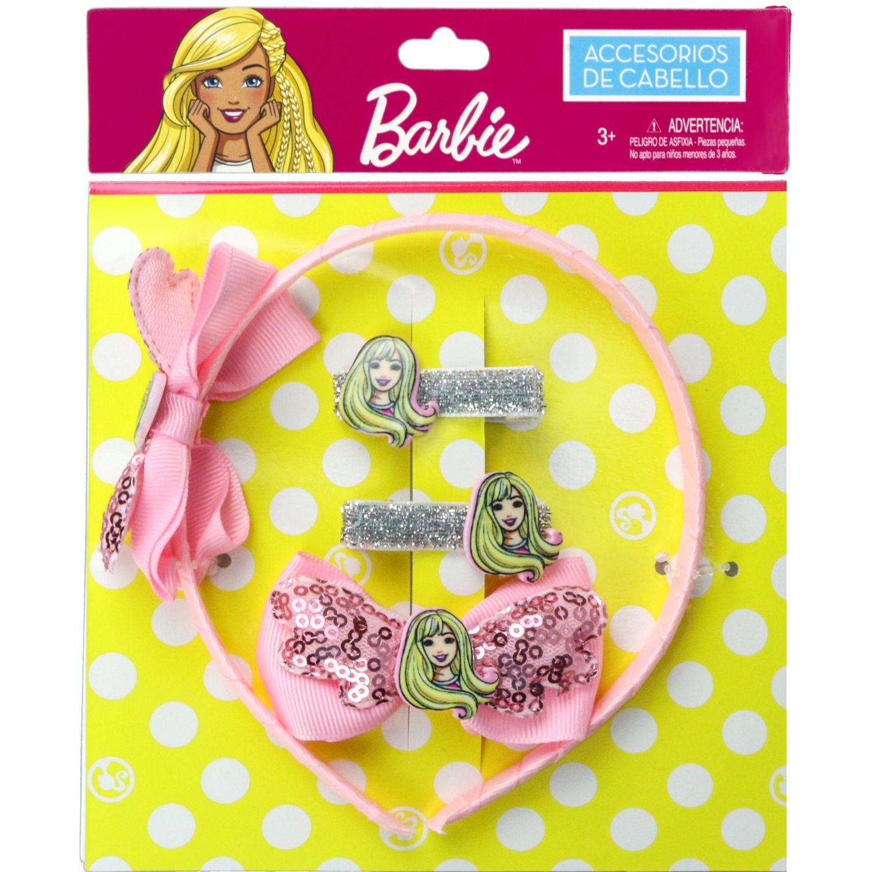 Barbie set accesorios cabello barbie Rosado cepillos para el cabello