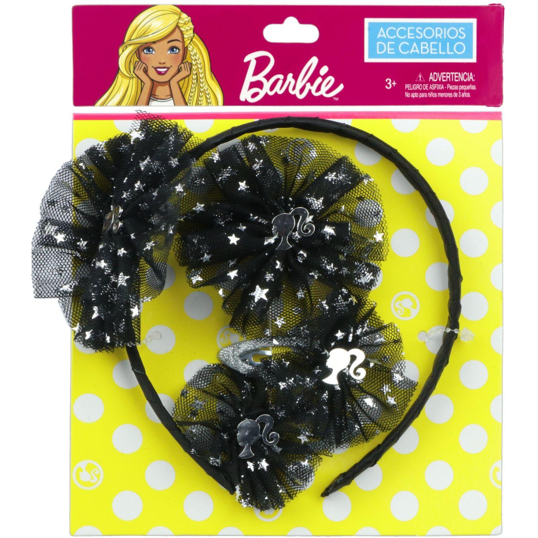 Barbie Set Accesorios Cabello Barbie Negro Cepillos para Cabello