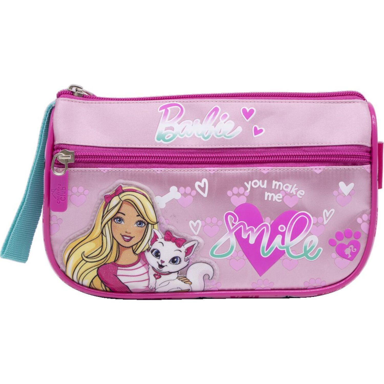 Barbie CARTUCHERA NIÑA BARBIE Rosado / celeste portalápices
