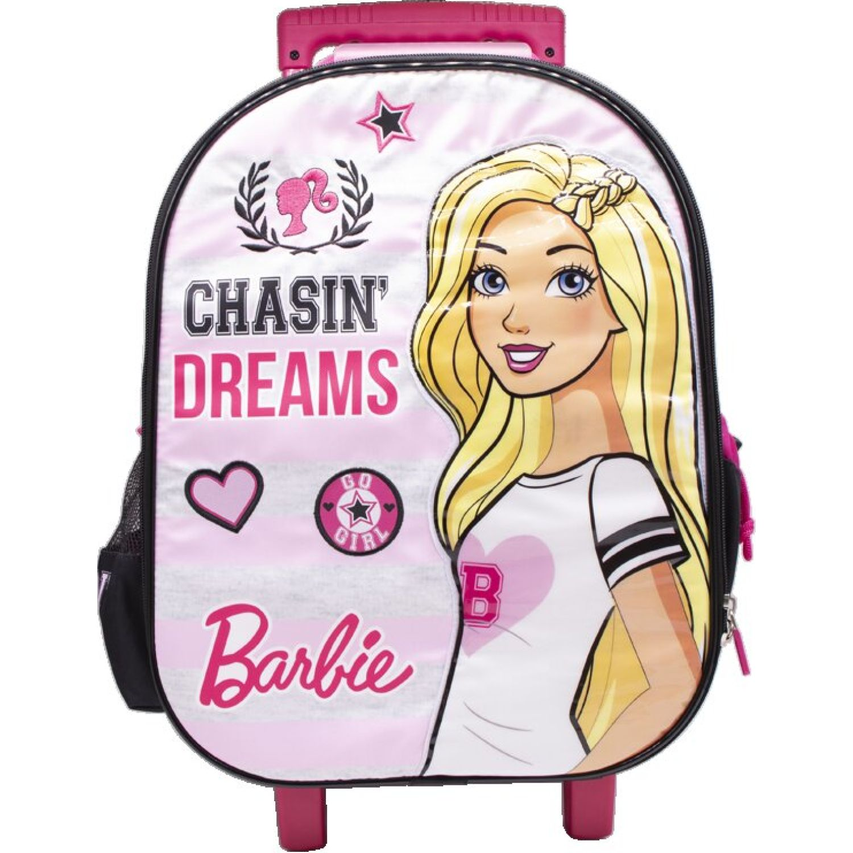 Barbie Mochila Ruedas Niña Barbie Fucsia / gris Maletas para niñas y niños