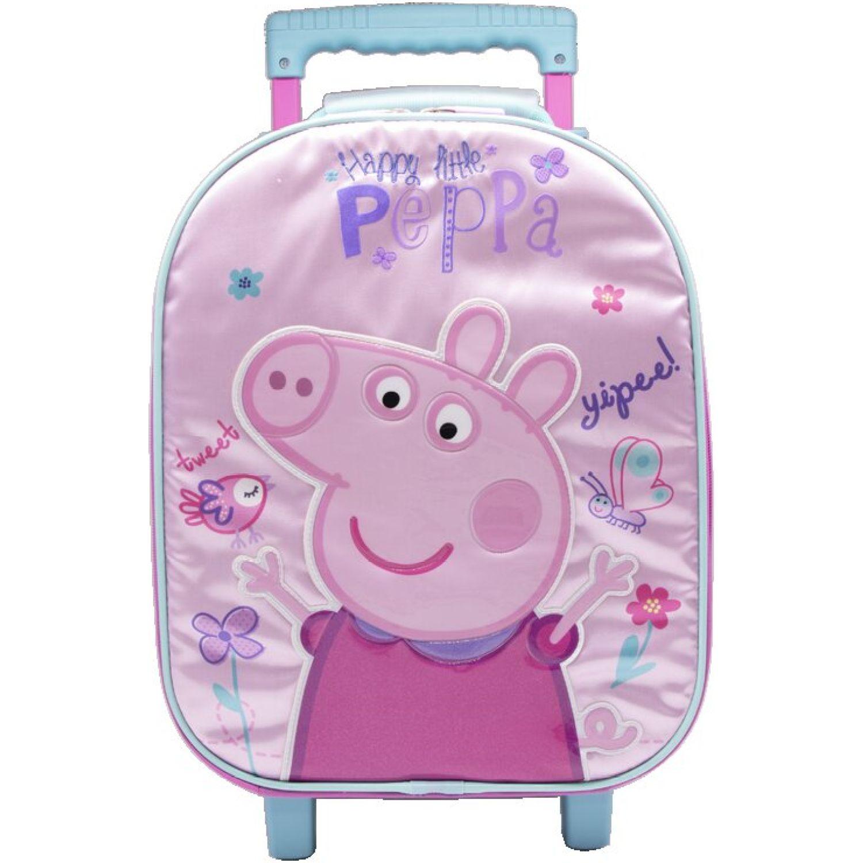 Peppa Pig mochila ruedas niÑa peppa pig Rosado / celeste Maletas para Niños