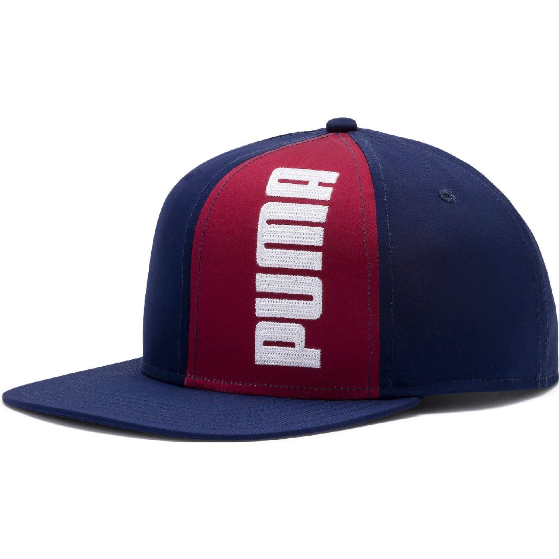 Puma puma flatbrim cap ii Azul / rojo Gorros de Baseball