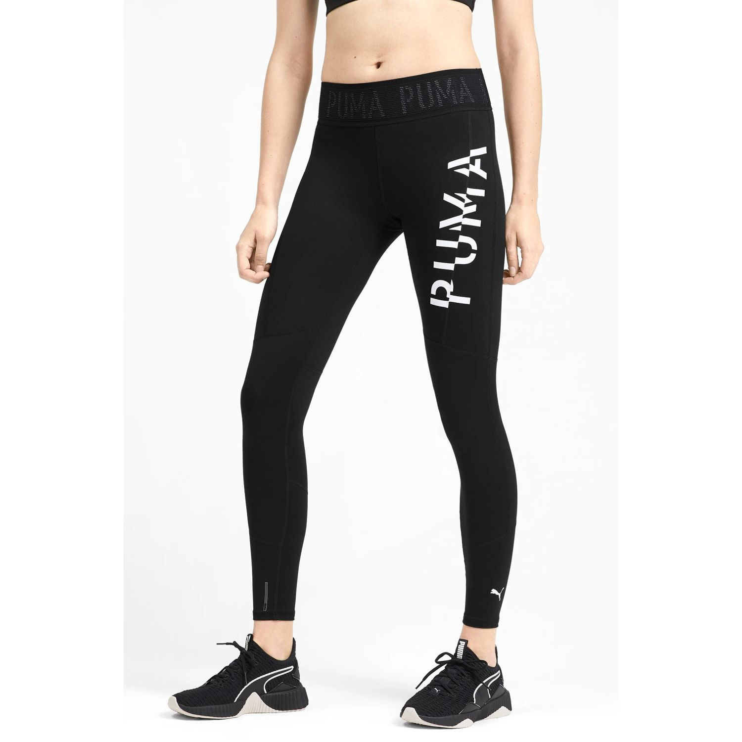 Puma logo 7/8 tight Negro / blanco Leggings Deportivos