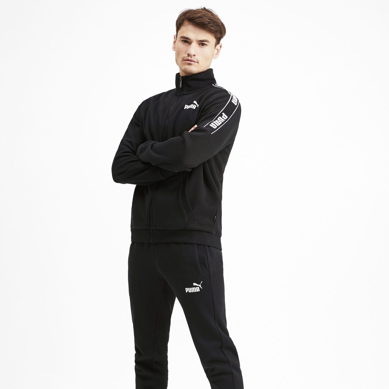 Puma amplified sweat suit Negro / blanco Buzos Deportivos
