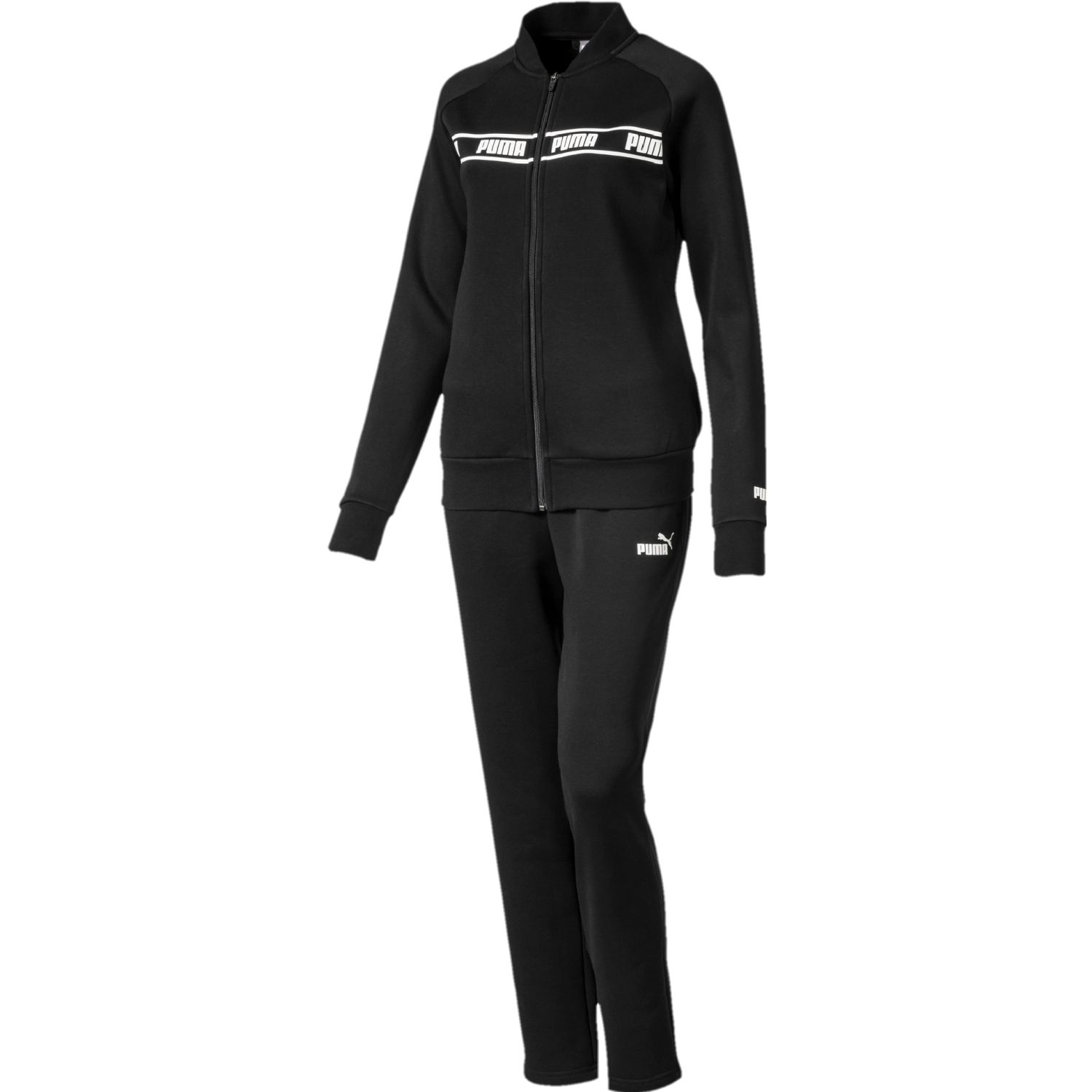 Puma amplified sweat suit Negro / blanco Sets Deportivos Tops y Bottoms