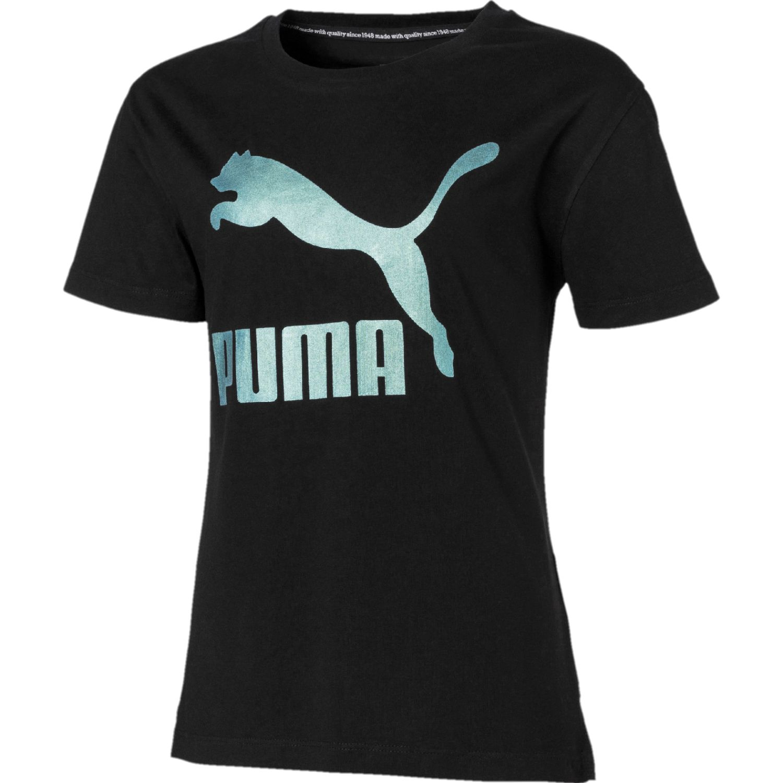 Puma classics graphic tee g Negro / celeste Polos