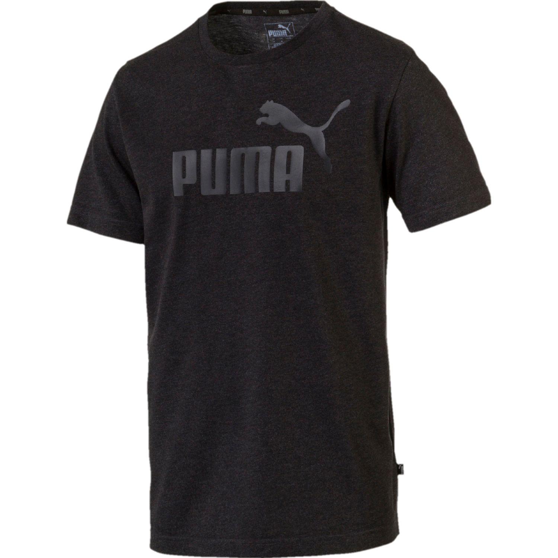 Puma ess+ heather tee Plomo Camisetas y Polos Deportivos