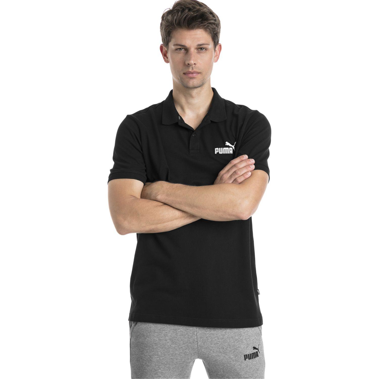 Puma ESS Pique Polo Negro / blanco Camisetas y Polos Deportivos