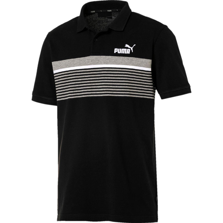 Puma ess+ stripe polo NEGRO / GRIS Camisetas y Polos Deportivos