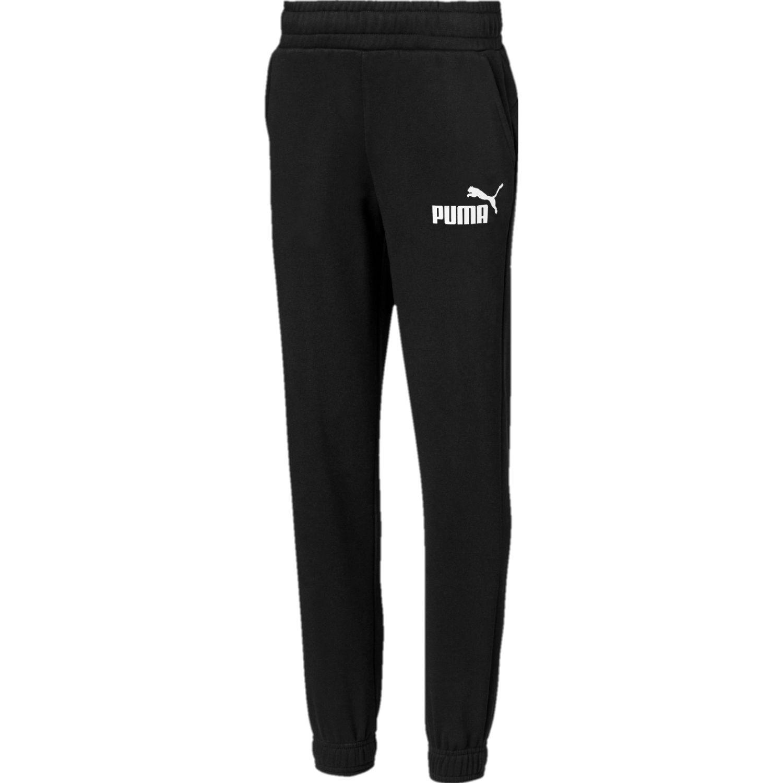 Puma ess logo sweat pants fl cl b Negro / blanco Pantalones